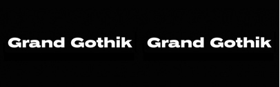 @parachutetype released Grand Gothik Compressed' Grand Gothik Condensed' Grand Gothik' Grand Gothik Wide' and Grand Gothik Extended. A Variable Font version is also available.