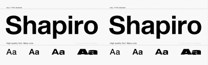 OGJ Type Design released Shapiro.