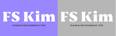 @Fontsmith released FS Kim' FS Kim Inline' and FS Kim Text.