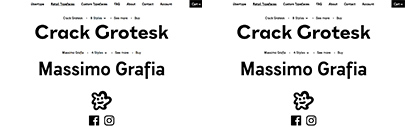 übertype has been launched. Crack Grotesk and Massimo Grafia are available.