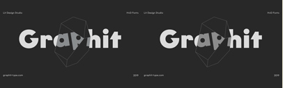 HvD Fonts released Graphit designed by Livius Dietzel and Tom Hoßfeld.