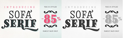 FaceType released Sofa Serif Hand.