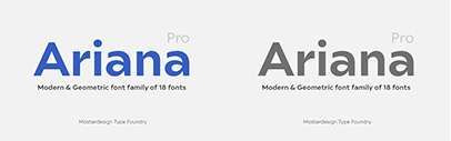 @mostardesign released Ariana Pro.