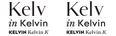 @205tf released Kelvin Avec and Kelvin Sans designed by Thomas Bouville.