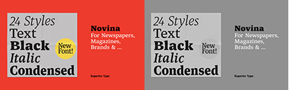 @SuperiorType released Novina and Novina Condensed.