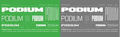 Capitalics released Podium. It comes with 234 styles.