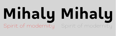 Alfab released Mihaly Display designed by Bruno Bernard.