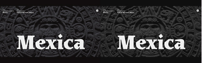 Sudtipos released Mexica designed by Gabriel Martinez Meave.