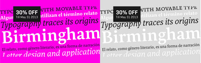 Relato' a serif by Emtype Foundry' is 30% off till May 31st.