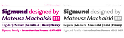 Capitalics Warsaw Type Foundry released Sigmund.