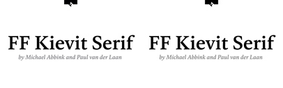 FontFont released FF Kievit Serif.