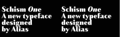 Alias released Schism One' Two' and Three.