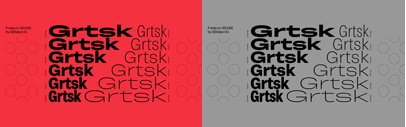 Black[Foundry] released Grtsk. It comes with 6 widths' each of which has 7 weights + backslants and italics.