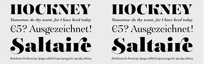 G-Type's new website launched. Their fonts are 50% off for a limited time. Besides it' they released a new typeface' Saltaire.