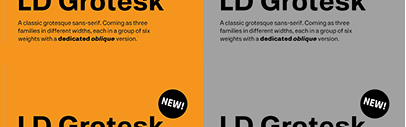 Lazydogs Typefoundry released LD Grotesk.