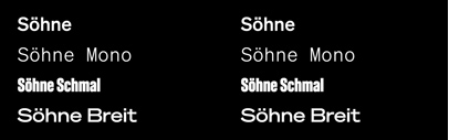 Klim Type Foundry released Söhne Collection.