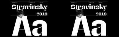 Stravinsky designed by Ilya Naumoff was added to @futurefonts.