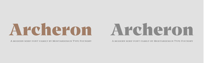 Mostardesign released Archeron Pro.