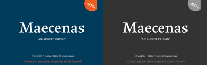 Capitalics Warsaw Type Foundry released Maecenas.