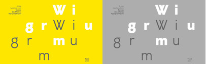 Bureau des Affaires Typographique has released a new geometric sans serif' Wigrum' by Feed.