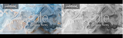 URW Type Foundry released Marble designed by Vaibhav Singh and Alessia Mazzarella.