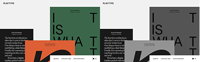 Playtype's website has been redesigned. Hansen Grotesque by Philipp Neumeyer' Zichtbaar by Jeppe Pendrup' No5 by Jonas Hecksher' and Hafnia Sans by Jonas Hecksher are available.