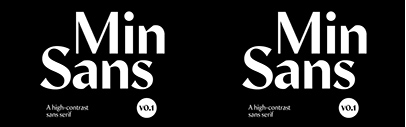 Min Sans by TienMin Liao was added to Future Fonts.