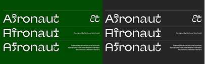 The Designers Foundry released Afronaut designed by Mateusz Machalski.