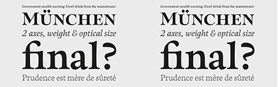 G-Type Foundry released Sherborne' which has three optical sizes.