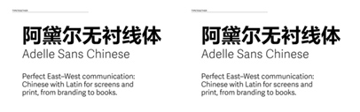 Type Together released Adelle Sans Chinese.