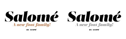 Salomé' a fat and modern serif typeface by Atipo. You can get the regular weight through pay with a tweet
