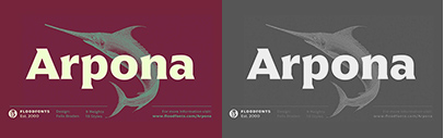 Floodfont released Arpona.