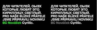 Briefcase Type Foundry released BC Novatica Cyrillic.