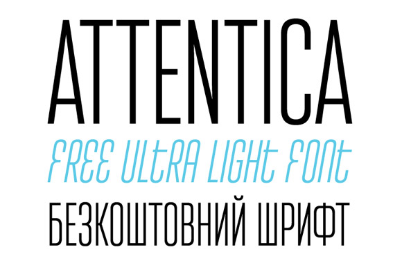 Font News [New Font Release] Attentica 4F, a condensed