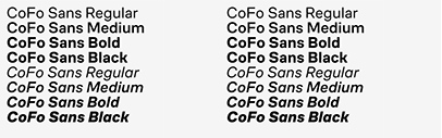 Contrast Foundry added italics to CoFo Sans.