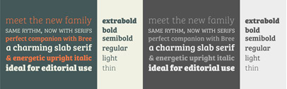 Bree Serif' a companion to Bree' by Type Together