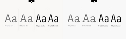 FontFont released FF Kaytek Headline and FF Kaytek Rounded.
