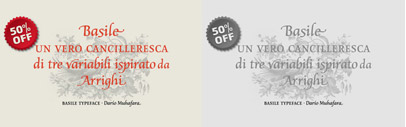 All the fonts from Tipo are 30% off till July 13th and Basile is 50% off till Jul 11th.