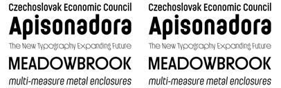 Ladislav' a new geometric sans serif by Suitcase Type Foundry. The Ladislav family consists of backslanted and an inline version.