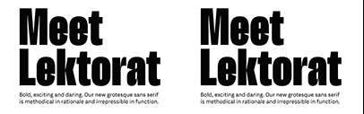 Type Together released Lektorat designed by Florian Fecher.