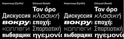 GT America now supports Cyrillic' Greek' and Vietnamese.