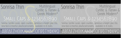 Sonrisa by Castle Type is 50% off till October 31st.