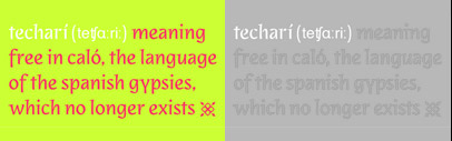 Techarí' a new typeface by Pilar Cano' a designer of Edita.
