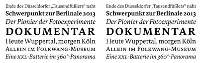 Bold Monday and Mike Abbink designed typefaces for WDR' a German public-broadcasting institution. It includes WDR Sans (a customised version of FF Kievit)' WDR Slab' and WDR Serif.