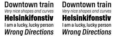 LudwigType expanded the character set of Helsinki and added italics to it. 50% off till the end of August.