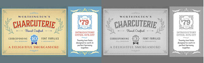 Charcuterie' a family of ten distinct yet related typefaces by Laura Worthington