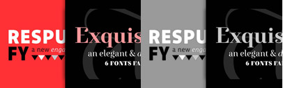 4 typefaces from FONTYOU are on sale. Exquise FY' Kaili FY and Squirrel FY are 50% off. Respublika FY is 90% off. This offer ends September 25.