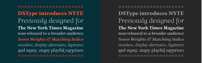 Nyte designed by DSType for NYT magazine is now available for licensing.