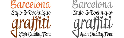 A vital' dynamic and robust personality: the calligraphic font Excritura by Alex Camacho
