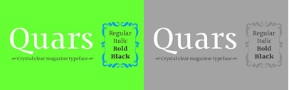 Quars' a new serif typeface' by Pilar Cano and Ferran Milan.